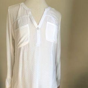 Long sleeve white shirt.   Merona, size M. NWT